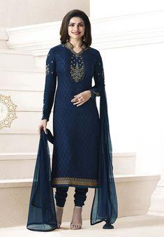 Prachi Desai In Navy Blue Suit