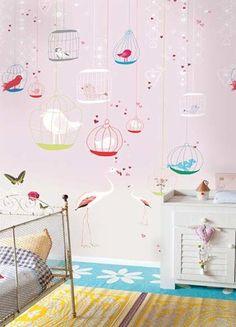 Onszelf Kids Wallpaper Panels- Flamingo OZ3161 by Onszelf | JUST KIDS WALLPAPER™