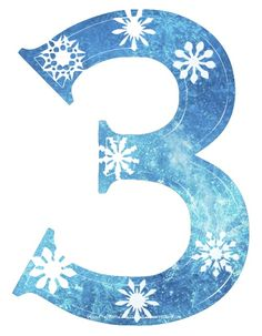 Frozen Snowflake numbers, large clipart l Great-Kids-Birthday-Parties.Com.