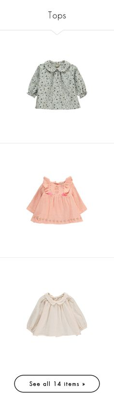 """""""Tops"""" by crazyhat15 ❤ liked on Polyvore featuring tops, blouses, pink top, pink blouse, cotton blouse, peach top, peach blouse and baby"""