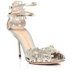 Charlotte Olympia Margherita metallic leather sandals
