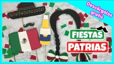 ACCESORIOS PARA SELFIES - Fiestas patrias mexicanas (Imprimibles gratis)... Descarga completamente GRATIS estos divertidos imprimibles para las fotos de estas fiestas patrias mexicanas - 15 de septiembre Ideas Paso A Paso, Selfies, Charms, Free Printables, Mexican Fiesta, Funny Pics, September, Selfie