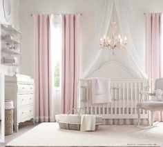 Princess Room pretty in pink nursery Baby Bedroom, Baby Room Decor, Girls Bedroom, Baby Rooms, Trendy Bedroom, White Bedroom, Girl Nursery, Girl Room, Taupe Nursery