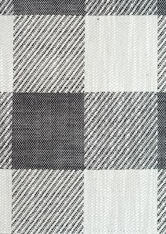 Catamaran Check Upholstery Fabric A large gingham check fabric in black and ivory, cleverly woven with twill.