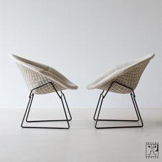 lounge chair ottoman premium reproduction harry bertoia diamond