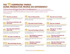The 15 Surprising Things Ultra Productive People Do Differently