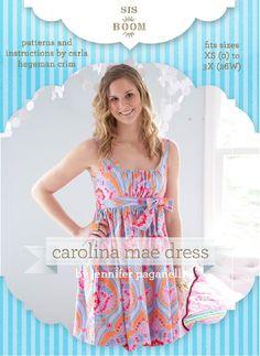 Carolina Mae PDF Dress Pattern for Women « Dress Patterns | Crafting | DIY Sewing Project