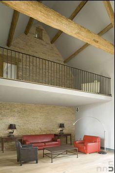 Loft Mezzanine stairs to barn loft / mezzanine floor | farmhouse dreams