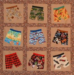 Quilt or throw for boys/men...too funny  -- would make a cute baby quilt..