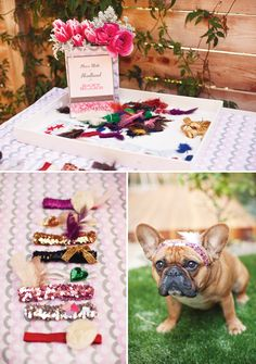 cutest baby shower ever...complete with a headband making station!