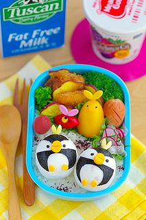 hanpen fishcake penguin bento by luckysundae, via Flickr