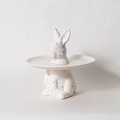 imm Living | Table Top | Tabletop Accessories | Cake Plate | Menagerie Collection Rabbit Cake Plate