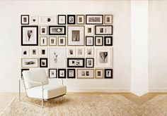 Picturewall - A perfect gallery wall in minutes w frames & templates Gallery Wall Frame Set, Frames On Wall, Wood Picture Frames, Picture Wall, Cadre Photo Multiple, Photo Wall Hanging, Brick In The Wall, Framing Photography, Dream Wall