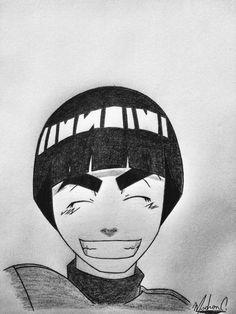 Naruto Drawings Easy, Naruto Sketch Drawing, Sad Drawings, Cute Animal Drawings, Cool Art Drawings, Anime Sketch, Manga Drawing, Rock Lee Naruto, Naruto Painting