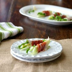 Prosciutto Roll-Ups with Arugula, Fennel and Parmesan