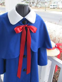 Madeline Costume Version 3- with coat, cape and hat. Made for a kindergartener.