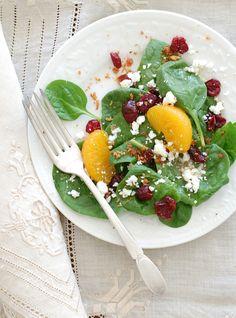 yummy spinach salad