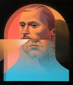 Elevated Man - oil and spray paint. By Michael Reeder