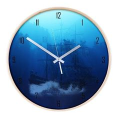 new at @CafePress : #Ghost #Ship Wooden Wall #Clock A ghost ship on the river in a dark forest! A creepy fantasy scene.  $52.89