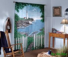 By The Sea Window Art Curtains todays price $31.29 & FREE Shipping find it on amazon here http://amzn.to/Z62b6V see more great items at http://www.ddsgiftshop.com/home-and-garden
