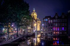 Amsterdam am abend by MarciMarcMmc