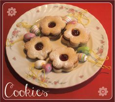 Easter cookie recipe - based on Austrian linzer cookies by nell Easter Cookie Recipes, Easter Cookies, Easter Treats, Easter Food, Christmas Food Gifts, Christmas Time, Austrian Recipes, German Recipes, Linzer Cookies