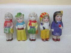 Old Bisque Cowboy Cowgirls Indian Maiden Penny Dolls Japan | eBay