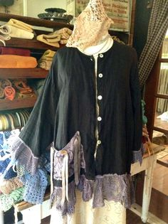 Luv Lucy linen art jacket Lucy's Wicked Nights by LuvLucyArtToWear, $125.00