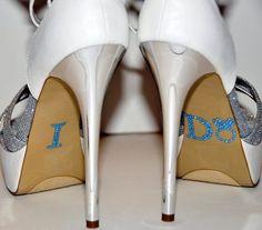 Unik Occasions Crystal Rhinestone I Do Wedding Ring Shoe Stickers Baby Blue#wedding #Ideas