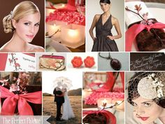 A Sweet Soiree: {A Palette of Coral, Chocolate Brown & Ivory}