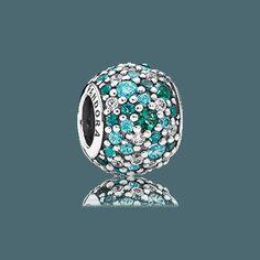 Beautiful new Pandora charm! PANDORA   Ocean Mosaic Pave, Mixed Green CZ & Green Crystal