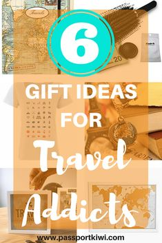 6 Gift Ideas for Travel Addicts! I don't know about you, but I find gift buying to be so difficult. What do they want?? What if they don't like what I get them?? If you're anything like me, you need as many ideas as you can get. So if you have a travel addict in your life, here are 6 gift ideas for travel addicts in your life to get you started. Or, if you are a travel addict you can just casually leave this page open where a loved one can conveniently see it