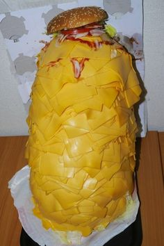 Here's What A Whopper With 1000 Slices Of Cheese On It Looks Like