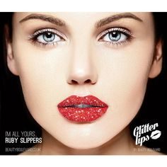 Glitter Lips (Ruby Slippers) ($16) ❤ liked on Polyvore featuring beauty products, makeup and lip makeup