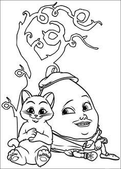 Ausmalbilder Der gestiefelte Kater 13   Disney   Pinterest   Tekenen