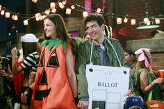 Pin for Later: Did You Catch All These Inside Jokes in the HIMYM Finale? The Hanging Chad Costume/Slutty Pumpkin Flashback