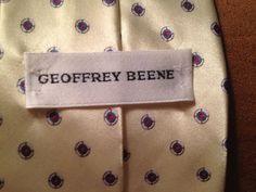 Geoffrey Beene Yellow. Tie #GeoffreyBeene #NeckTie