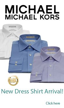 The New Michael Kors Regular Fit Dress Shirts are Here for Summer 2014.