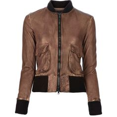 LAPIS ITALIA Leather jacket ($1,275) ❤ liked on Polyvore