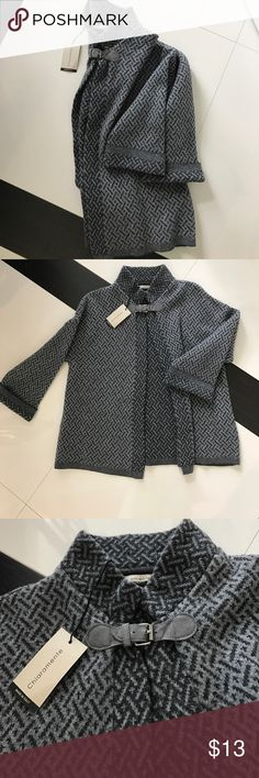 Grey patterned cape NEVER WORN Cute chic never worn grey/dark grey cape. Perfect for layering! Jackets & Coats Capes