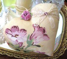 Heart DOOR Hanger Decor Floral Prim Primitive by CharlotteStyle, $12.50