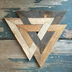 Woodworking Plans Projects Norse trinity made from recycled lath.Woodworking Plans Projects Norse trinity made from recycled lath. Woodworking Projects Diy, Diy Wood Projects, Woodworking Plans, Wood Crafts, Woodworking Shop, Woodworking Patterns, Woodworking Workshop, Woodworking Classes, Diy Holz
