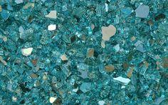 Broken turquoise glass...