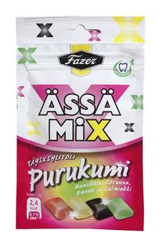 Ässä Mix purkkapussit Goa, Product Design, Candy, Finland, Candles, Merchandise Designs, Candy Bars