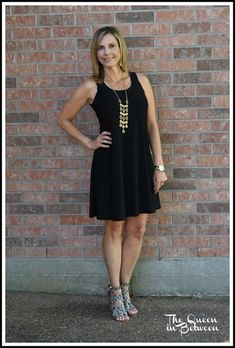 This little black dress is perfect for summer paired with fun heels; date night attire; Queeninbetween.blogspot.com