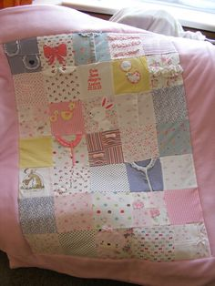 Quilt made from baby clothes                                                                                                                                                      More