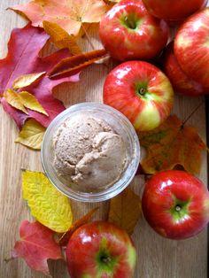vegan caramel apple ice cream