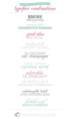 10 Lovely Complimentary Typeface Combinations