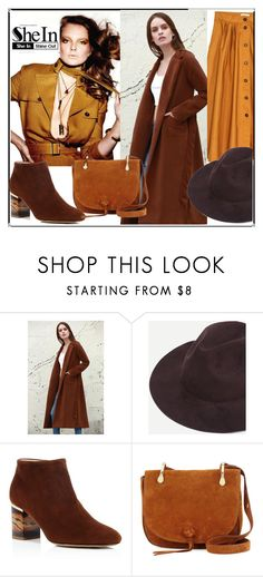 """SheIn Coffee Stylish Fedora Hat"" by duricvelida ❤ liked on Polyvore featuring H&M, Burberry and Elizabeth and James"