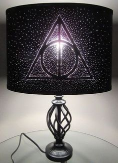 Harry Potter Deathly Hallows Pin Hole Lamp by GeekYourInterest